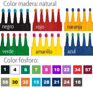colores madera / fósforo