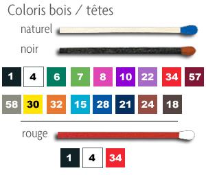 coloris bois / têtes