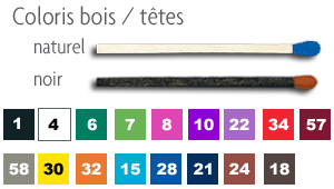 coulers bois / têtes