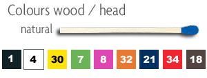 Colour wood / head