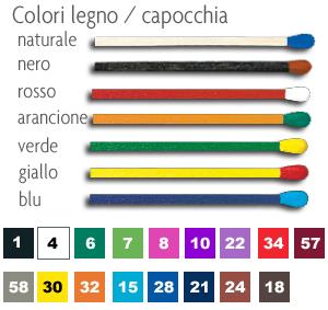 colori legno / capocchia