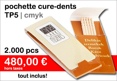 Pochette de cure-dents TP5